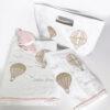 Πετσέτες βρεφικές Air Ballon dusty pink