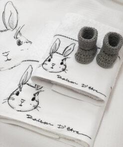R.D.E. Πετσέτες βρεφικές Bunny