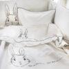Βρεφικά σεντόνια με μαξιλαροθήκη Bunny in White