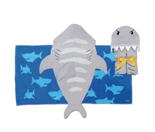 Παιδική πετσέτα με κουκούλα καρχαρίας Stephen Joseph
