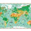 Djeco παζλ ανακάλυψης παγκόσμιος χάρτης 200 τεμάχια