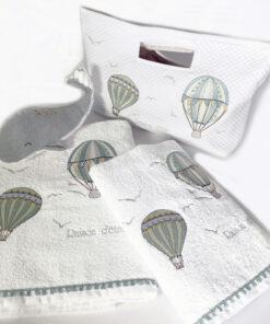 Βρεφικές πετσέτες Air Ballon Green