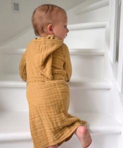 Lassaeg παιδικό βρεφικό μπουρνούζι mint