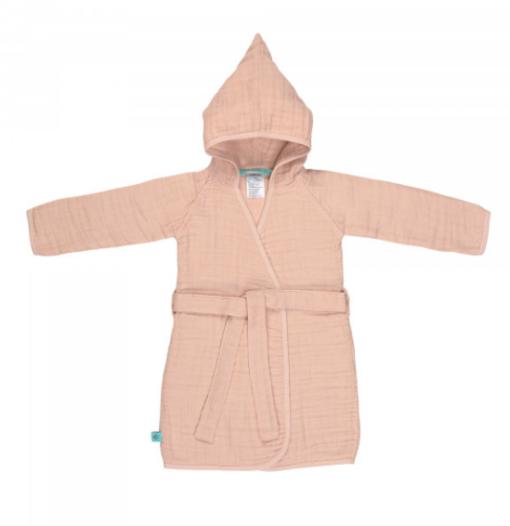 Lassaeg παιδικό βρεφικό μπουρνούζι Dusty Pink