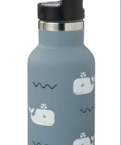 Θερμός παγούρι για παιδιά κλείνει με δύο διαφορετικά πώματα χωρητικότητα 350ml διατηρεί τα ροφήματα ζεστά ή κρύα για πάνω από 8 ώρες BPA Free και food safe κατασκευασμένο από διπλό τοίχωμα ανοξείδωτο ατσάλι λαβή στο καπάκι με ενσωματομένο πτυσόμενο καλαμάκι συμπεριλαμβάνεται ειδικό βουρτσάκι για τον καθαρισμό του καλαμακιού