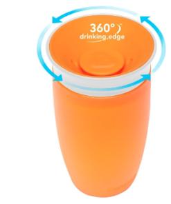 Munchkin ποτηράκι εκπαιδευτικό Miracle 360˚ Sippy Cup Orange