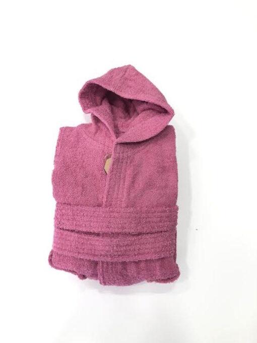 Παιδικό μπουρνούζι βαμβακερό φουξ 8 εως 10 ετών
