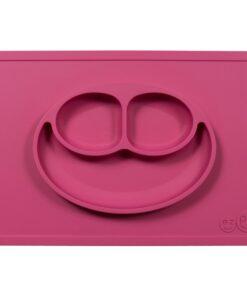 Ezpz Happy mat δίσκος και πιάτο σε ένα ροζ