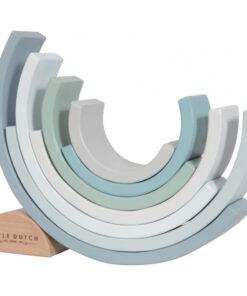 LITTLE DUTCH. Ξύλινο τρισδιάστατο Ουράνιο Τόξο (γαλάζιο)