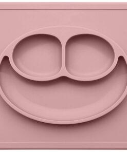 Ezpz Happy mat δίσκος και πιάτο σε ένα Blush