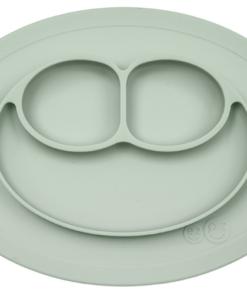 Ezpz Δίσκος και πιάτο σε ένα Happy mat in Sage
