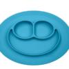 Ezpz Δίσκος και πιάτο σε ένα Happy mat in Blue