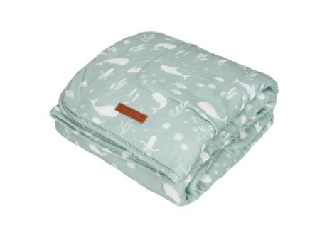 LITTLE DUTCH Κουβέρτα Ocean Mint 110 x 140