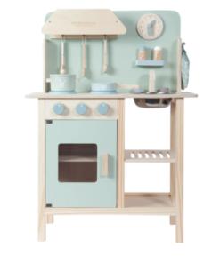 LITTLE DUTCH Ξύλινη κουζίνα παιχνιδιού με 8 αξεσουάρ Mint