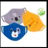 Zoocchini Σετ 3 Παιδικές Μάσκες από Οργανικό Βαμβάκι