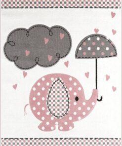 Παιδικό χαλί Elephant Dusty Pink 133Χ190