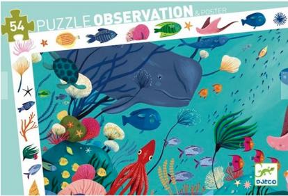 Djeco Εκπαιδευτικό παζλ παρατηρητικότητας Θαλάσσιος κόσμος