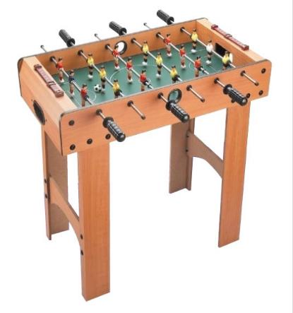 Ποδοσφαιράκι -τραπέζι ξύλινο με 6 σειρές και 2 μπάλες, για να διασκεδάσουν μικροί και μεγάλοι! Διατίθεται πλήρες με τα αξεσουάρ του και η τιμή του είναι δελεαστική! Κατάλληλο για παιδιά άνω των 4 ετών. Ηλικία Από 4 μέχρι 9 ετών Διαστάσεις Π690 x Y690 x Β370 χιλ.