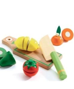 Djeco Σετ λαχανικά και φρούτα 6τμχ