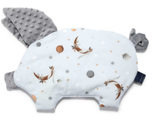 La Millou μαξιλάρι νεογέννητου & παρηγοριάς SLEEPY PIG FLY ME TO THE MOON SKY DARK GREY