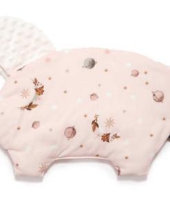 La Millou μαξιλάρι νεογέννητου & παρηγοριάς SLEEPY PIG FLY ME TO THE MOON NUDE ECRU