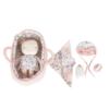 LITTLE DUTCH Υφασμάτινο μωρό σε καλαθούνα Rosa