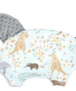 La Millou μαξιλάρι νεογέννητου SLEEPY PIG DUNDEE & FRIENDS BLUE GREY