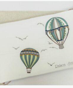 Hot Air Balloon Green πάντα βρεφικού κρεβατιού