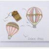 Hot Air Balloon Pink βαμβακερή κουβέρτα κρεβατιου XL