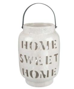 Φανάρι κεραμικό Home Sweet Home