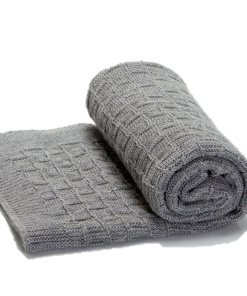 Greta & Bo πλεκτή κουβέρτα καροτσιού αγκαλιάς Alps Grey