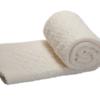 Greta & Bo πλεκτή κουβέρτα καροτσιού αγκαλιάς Alps White