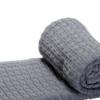 The Nest πλεκτή κουβέρτα καροτσιού αγκαλιάςStroke Grey