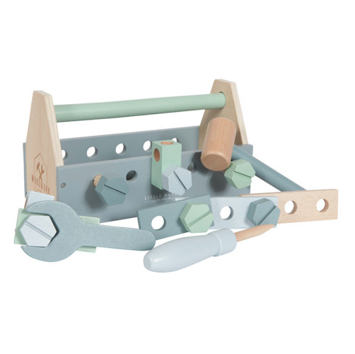 LITTLE DUTCH ξύλινη Εργαλειoθήκη με 20 Εργαλεία και Εξαρτήματα