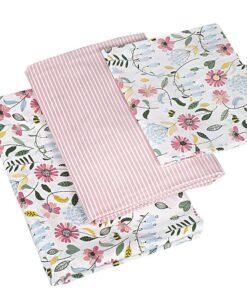 Βρεφικά σεντόνια με μαξιλαροθήκη Brushed Flowers
