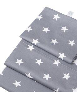 Βρεφικά σεντόνια με μαξιλαροθήκη Grey Stars