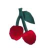 Διακοσμητικό μαξιλάρι Cherry velvet big