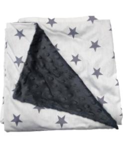 Grey Stars κουβέρτα αγκαλιάς και καροτσιου