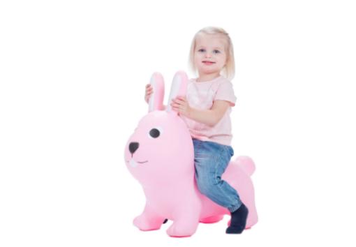 GERARDOS JUMPY Φουσκωτά ζωάκια Λαγουδάκι απαλό ροζ