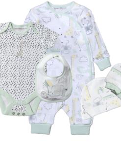 Οργανικό Bρεφικο σετ φορμάκι Giraffe & Friends newborn