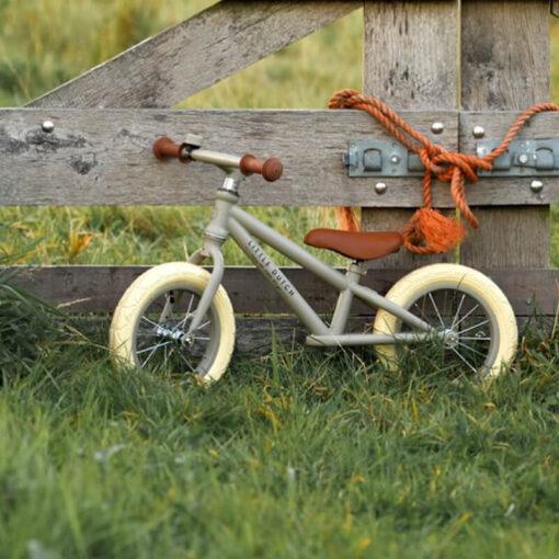 LITTLE DUTCH Μεταλλικό ποδήλατο ισορροπίας olive