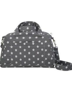 Τσάντα αλλαγής με μοτίβο Αστερακια γκρι