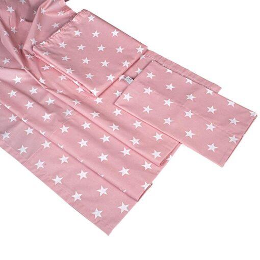 Βρεφικά σεντόνια με μαξιλαροθήκη Pink Stars