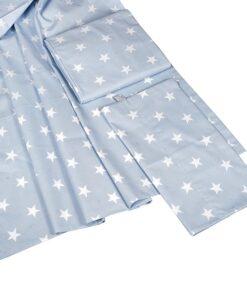 Βρεφικά σεντόνια με μαξιλαροθήκη Blue Stars