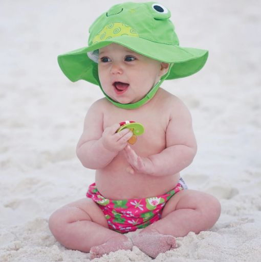 Zoocchini Αντηλιακό Καπέλο UPF50+ Βάτραχος