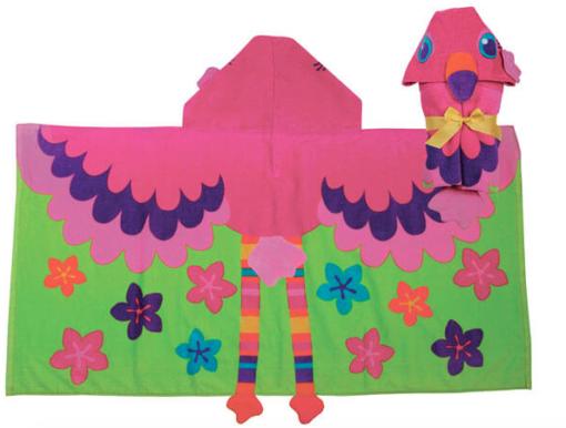 Stephen Joseph Παιδική πετσέτα με κουκούλα FLAMINGO