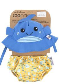 Zoocchini Σετ Μαγιό και Καπέλο UPF50+ Willy η Φάλαινα