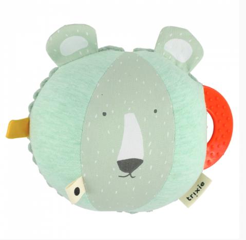 Trixie βρεφική μπάλα δραστηριοτήτων κουδουνίστρα Mr Polar Bear