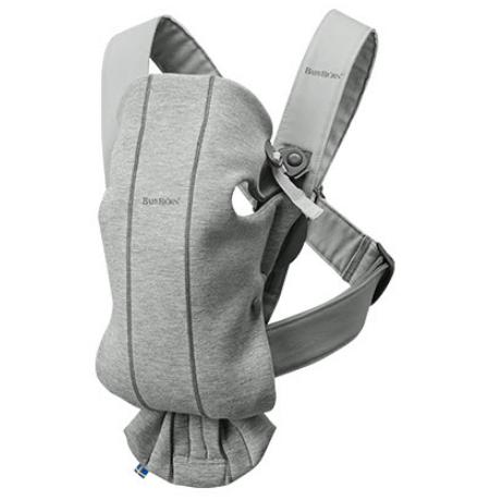 BabyBjörn μάρσιπος Mini 3D Jersey γκρι ανοιχτό