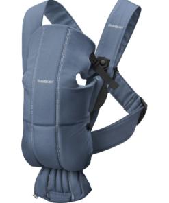 BabyBjörn μάρσιπος Mini 3D Jersey Cotton μπλε